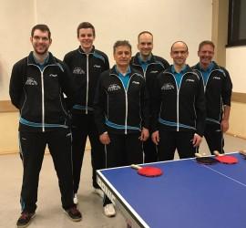 Im Bild von links; 1. Vorstand und Coach Michael Huber, Tobias Spraul, Jürgen Rapp, Oliver Matt, Hans-Peter Höll und Daniel Haas. Auf dem Bild fehlt Jan-Phillip Streif.